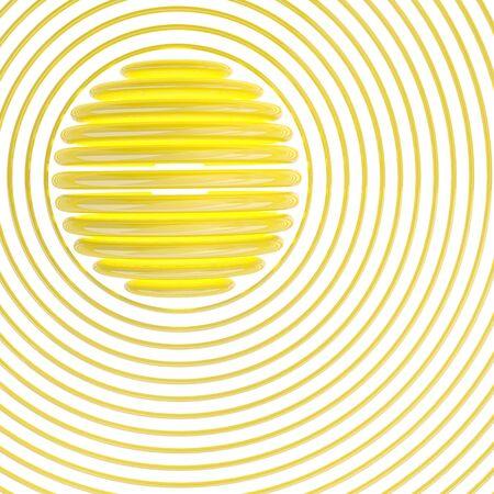 synopsis: Sun symbol. 3D illustration