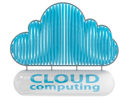 Cloud computing concept. 3D icon photo