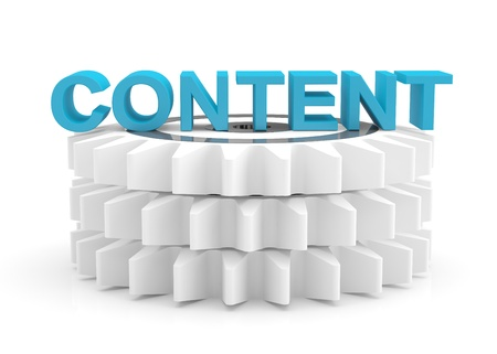 Content computer concept. 3D icon Stock Photo - 12164843