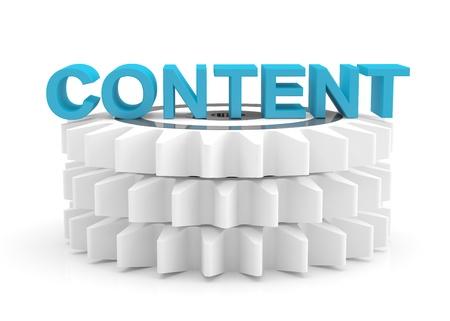 content: Content computer concept. 3D icon