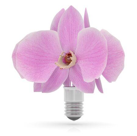 overuse: Eco energy concept. 3D icon Stock Photo