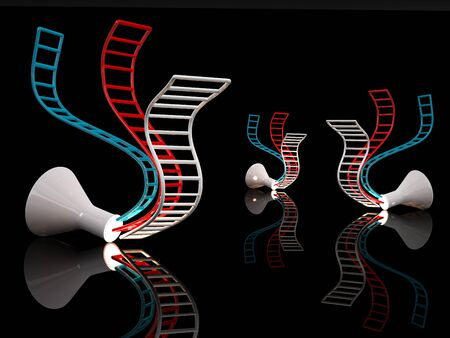 DNA concept. 3D illustration on black background illustration