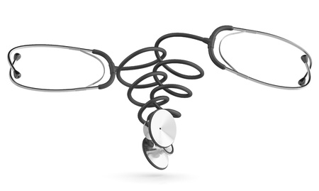Stethoscope. Medical concept. 3D model isolated on white background Stock Photo - 12164891