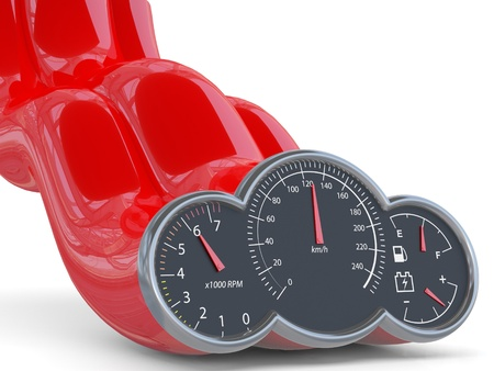 Speedometer. 3D model Stock Photo - 12543910