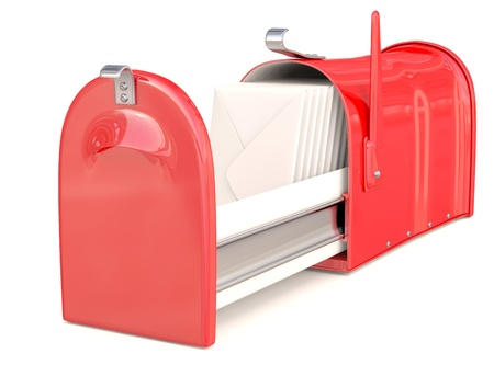 Mail box red. 3D model photo