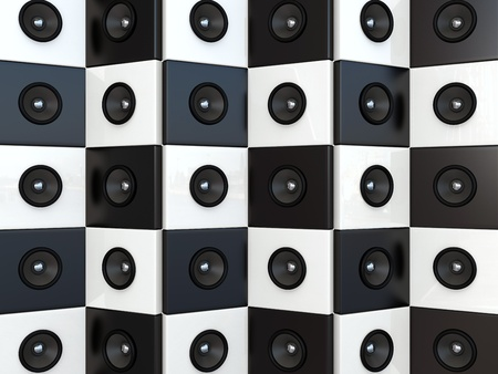 party system: Sound speakers. 3D background