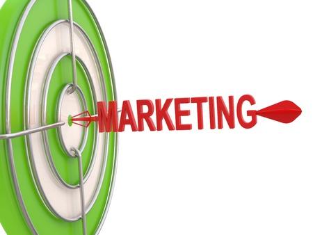 Success concept. Marketing Target. 3D model Stock Photo