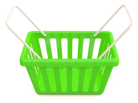 online trading:  Shopping basket. 3D model