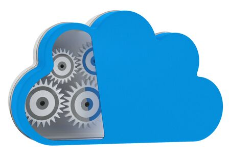 Cloud computing concept. 3D icon