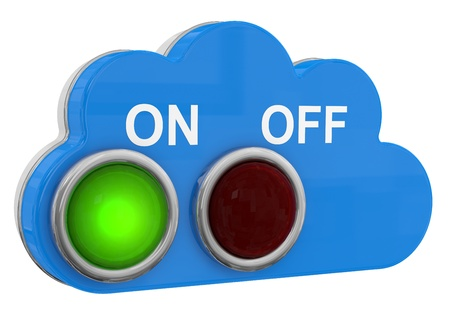 Cloud Switch Button onoff. 3D model photo