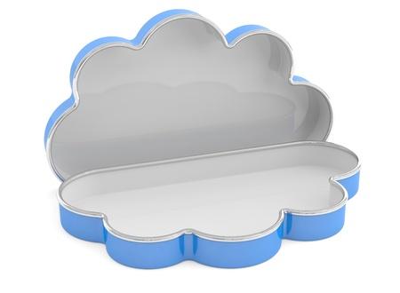 Cloud case concept. 3D model photo