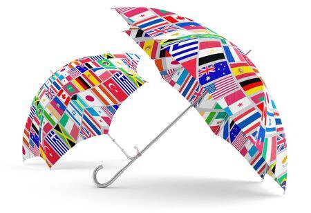 Travel umbrella. 3D model