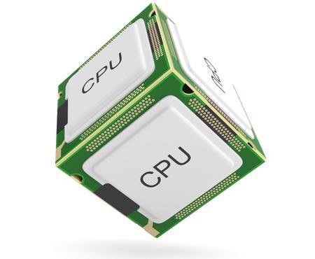 Computer processor. 3D model photo