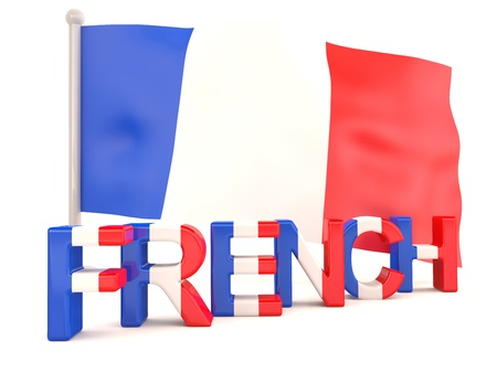european flag: French flag. 3D model Stock Photo