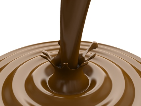 Chocolate splash. 3D render photo