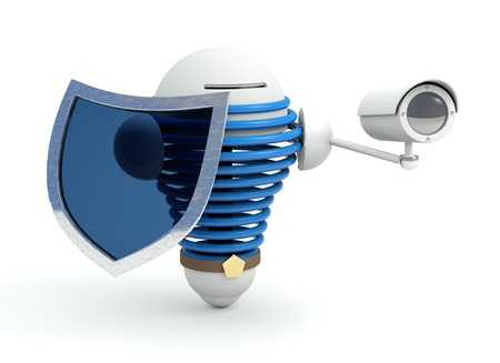 Security robot with protection shield and cam Stock Photo - 14316824