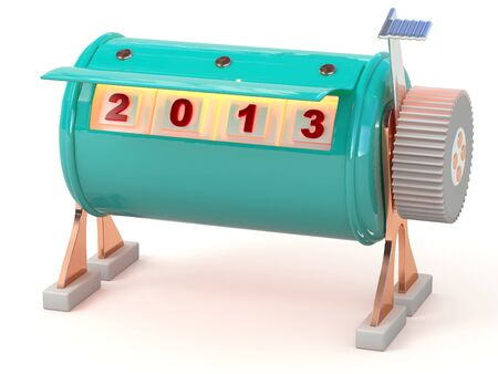 New year 2013 counter  3D model Stock Photo - 15918283