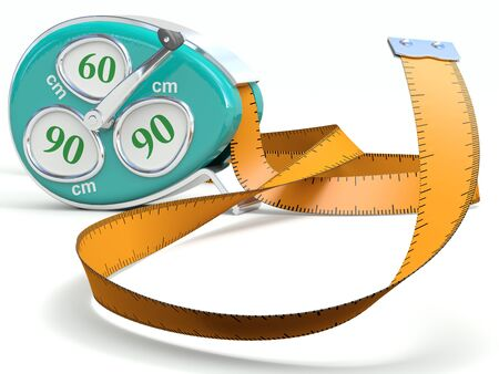Fitness tape  Weight loss concept Stock Photo - 15918284