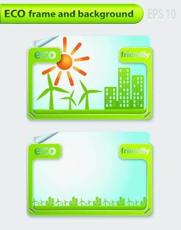 Eco frame and background.  Illustration