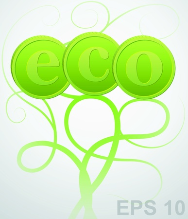 Eco sign. ecology background  Stock Vector - 17179960