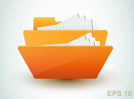 Folder with documents.  Stock Vector - 17179937