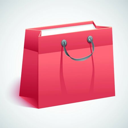 Gift shopping bag. Vector