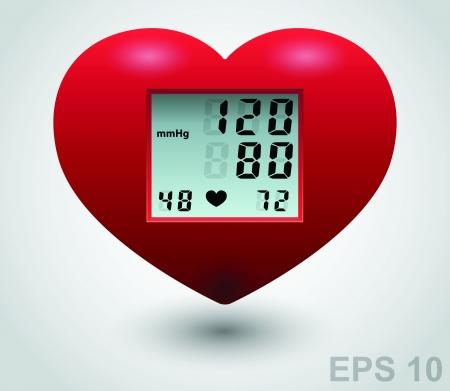 Moniteur cardiaque Rouge médical.