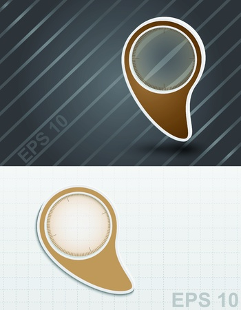 Magnifying glass  icon  Stock Vector - 17180003