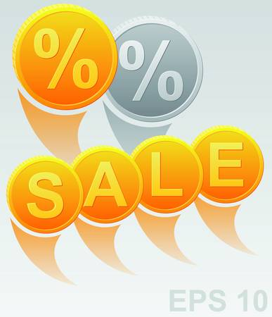 Sale sign with percent discount  illustration Stock Vector - 17179932