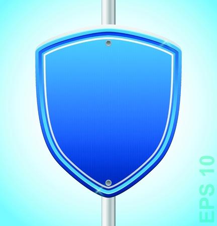 Security guard shield  sigh Stock Vector - 17179957
