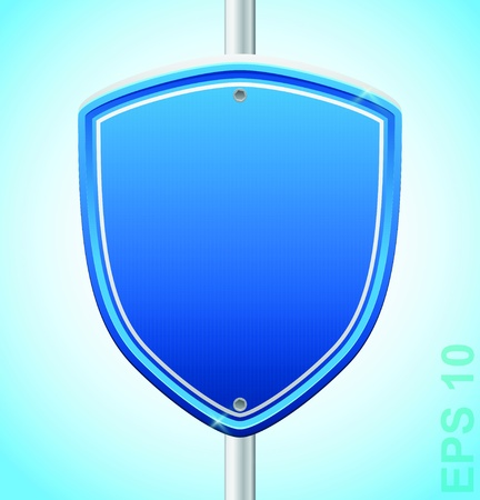 Security guard shield  sigh Stock Vector - 17179957