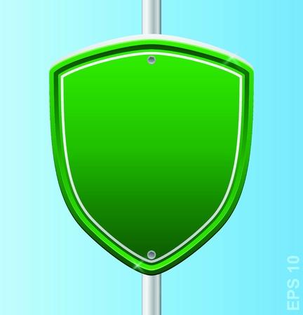 Security guard shield  sigh Stock Vector - 17179950