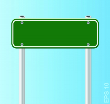 Blank traffic road sign Stock Vector - 17179909