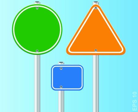 Set of traffic road signs  Vector illustration  Stock Vector - 17179918