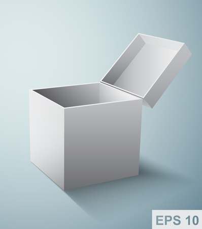 Gift box packaging  White  illustration Illustration