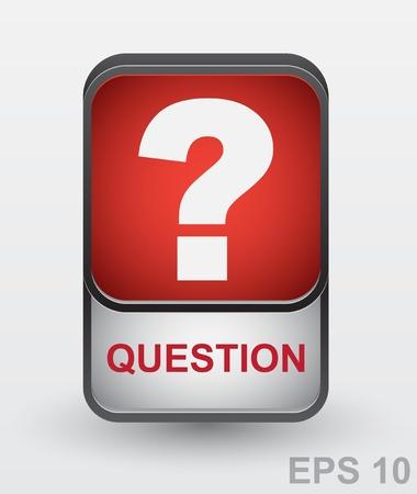 Question mark icon   button Stock Vector - 17317970