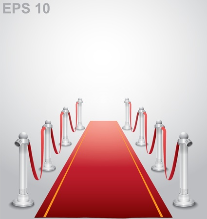 red line: Red carpet   illustration Illustration
