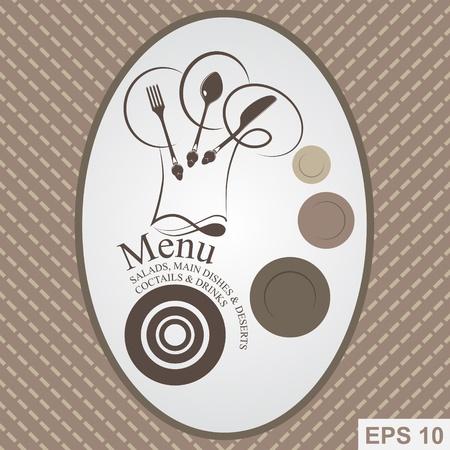 Restaurant Menu design.  illustration Illustration