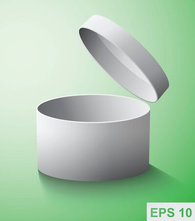 box open: Gift box. Vector object