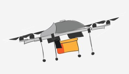 Drone quadrocopter. Vector illustration
