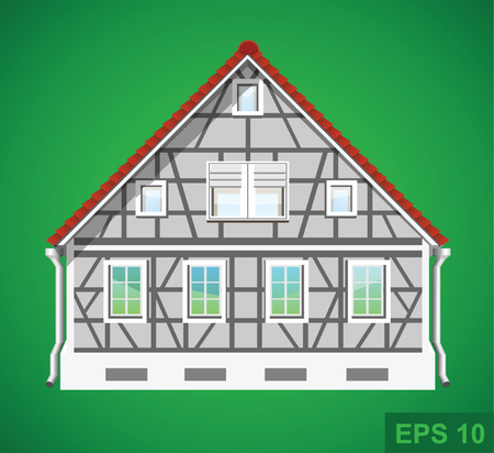 Detailed house. Real estate vector illustration icon