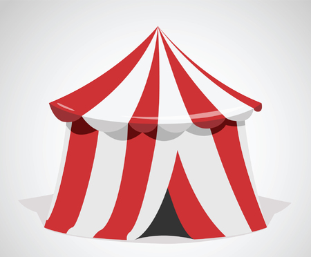 wedding tent: Marquee. Circus vector icon