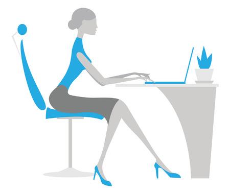 Office woman. Vector businesswoman