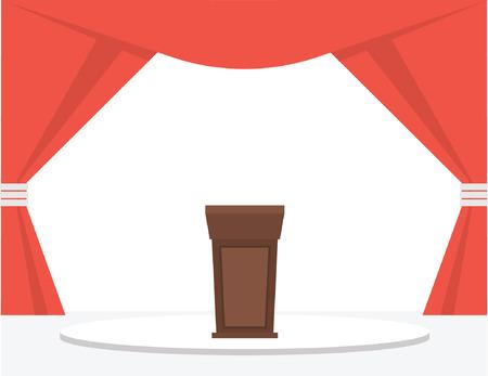Festive Stage Podium. Vector illustration Illustration