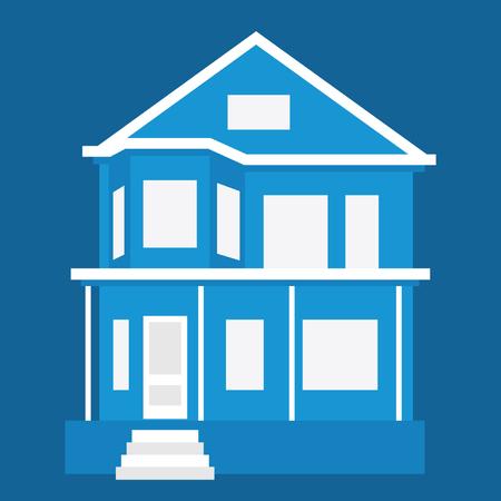 luxury homes: House. Detailed vector illustration. Illustration