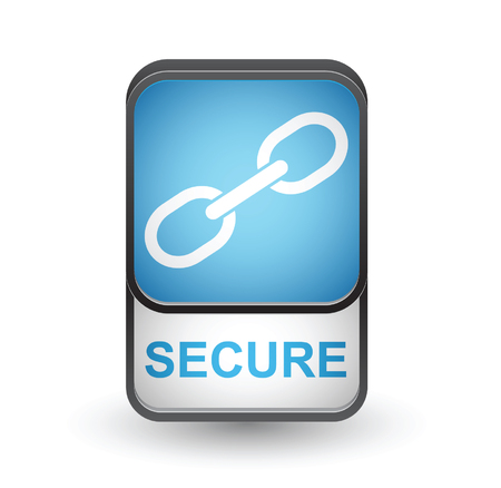 Secure icon. Vector sign isolated on white background Illustration