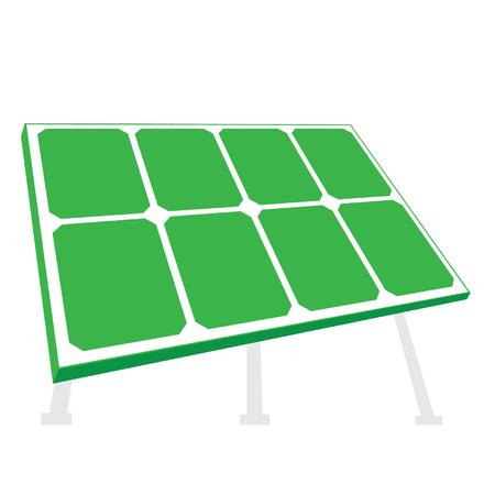 Solar panel. Vector illustration isolated on white background