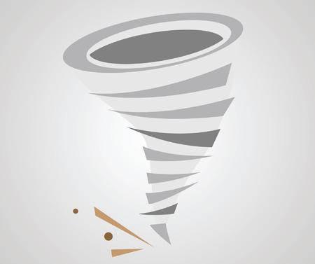 hurricane disaster: Tornado. Vector icon Illustration