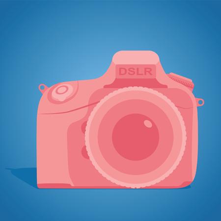 dslr: Camera DSLR. Vector illustration