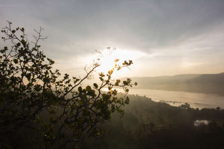 The sunrise on mountain in Thailand 001